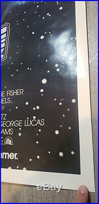 ROLLED! ORIGINAL Star Wars Empire Strikes Back Movie Poster 1980 Advance 27X41