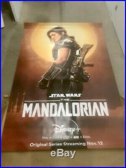 Rare Mandalorian Original Bus Shelter Poster. Star Wars Cara Dune Disney+ Plus