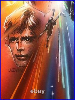 Rare Star Wars Movie Poster Comprehensive Painting by John Alvin Signed Framed