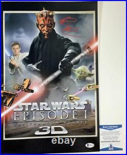 Ray Park Autographed Star Wars The Phantom Menace 11x17 Poster Signed BAS COA