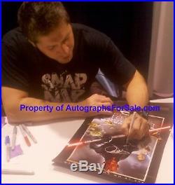 Ray Park signed Star Wars Phantom Menace 2012 movie poster Darth Maul FRAMED COA