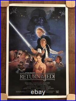 Return Of The Jedi- MINT B Style Rolled 1sheet Movie Poster Star Wars