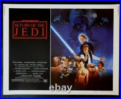 Return Of The Jedi Original Rolled 22x28 Rare Style B Movie Poster Star Wars