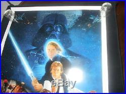 Return Of The Jedi Style B Original Rolled One Sheet Sci Fi Star Wars Lucas