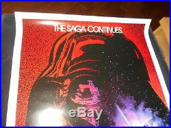 Revenge Of The Jedi Original Rolled One Sheet Sci Fi Star Wars Mark Hamill