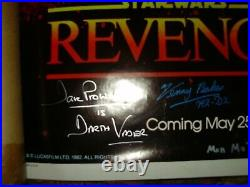 Revenge Of The Jedi Poster Signed By 7 All In Person