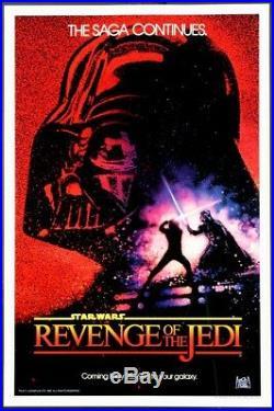 Revenge Of The Jedi Star Wars Dated Advance 1983 1-sheet Rolled Near Mint/mint