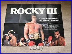 Rocky 3 Original UK Quad Film Movie Poster