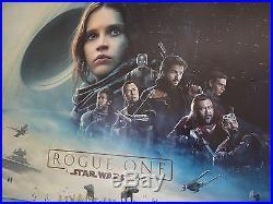 Rogue One A Star Wars Story (2016), Original UK Cinema Main Quad Poster 30x40