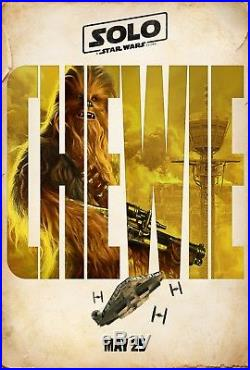 SET OF 5 SOLO A STAR WARS STORY Characters Original DS 27x40 Movie Posters