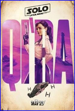 SOLO A STAR WARS STORY Original DS 27x40 Movie Poster CHARACTER SET Lando Qi'Ra