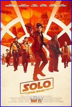 SOLO A STAR WARS STORY Original DS 27x40 Movie Poster FINAL VERSION HAN LANDO
