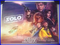 SOLO A Star Wars Story Original Quad Cinema Poster