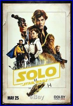 SOLO CineMasterpieces ORIGINAL MOVIE POSTER A STAR WARS STORY HAN 2018 RARE
