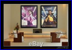 SOLO STAR WARS STORY CANNES FESTIVAL Style A 4x6 ft Original Movie Poster 2018