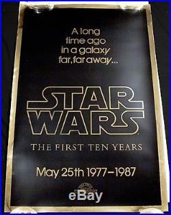 STAR WARS 1977-1987 1st 10 Years Original GOLD FOIL MYLAR Killian Movie Poster