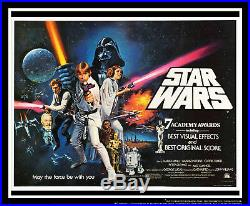STAR WARS 1977 30 x 40 Uk Quad Movie Poster Original