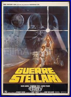 STAR WARS 1977 55x78 original Italian film poster George Lucas FilmArtGallery