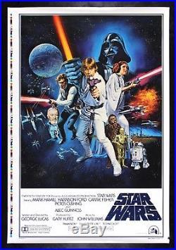 STAR WARS 1977 CineMasterpieces STYLE C ORIGINAL MOVIE POSTER PRINTER'S PROOF