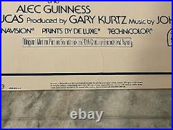 STAR WARS 1977 ORIGINAL MOVIE POSTER 1SH STYLE A 77/21 30x40 ON CARD-STOCK