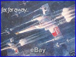 STAR WARS 1977 ORIGINAL MOVIE POSTER 1/2sh. HALF SHEET DARTH VADER HALLOWEEN