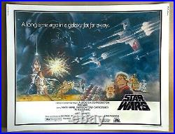 STAR WARS (1977) ORIGINAL ROLLED HALF SHEET (22 x 28) MOVIE POSTER RARE