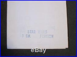 STAR WARS 1977 Original 3 Sheet Poster Lucas Ford
