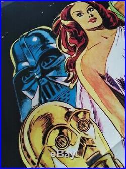 STAR WARS 1977 Original Movie Poster 39x55 2Sh Italian 1st Edt PAPUZZA ART RARE