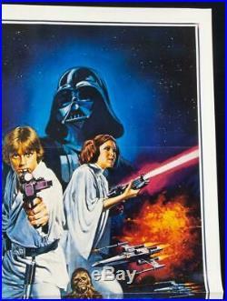 STAR WARS 1977 Original Movie Poster Style C TRI-FOLD MINT Tom Chantrell Art