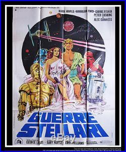 STAR WARS 39 x 55 Italian Two Sheet Movie Poster Original 1977