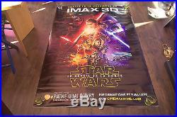 STAR WARS 7 FORCE AWAKENS F RARE IMAX 4x6 ft Shelter Original Movie Poster 2015