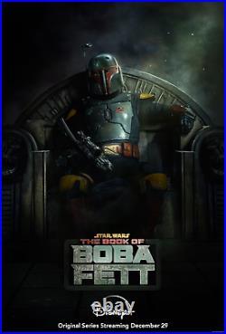 STAR WARS BOOK OF BOBA FETT MOVIE POSTER 2 Sided ORIGINAL 27x40 Promo Rare NEW