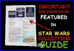 STAR WARS CORPORATION & 20th CENTURY-FOX Pre-Release MINI WINDOW MOVIE POSTERS