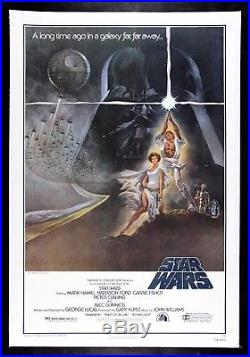 STAR WARS CineMasterpieces 1977 VINTAGE ORIGINAL MOVIE POSTER NM C9 LINEN