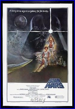STAR WARS CineMasterpieces 1977 VINTAGE ORIGINAL MOVIE POSTER NSS 77/21-0