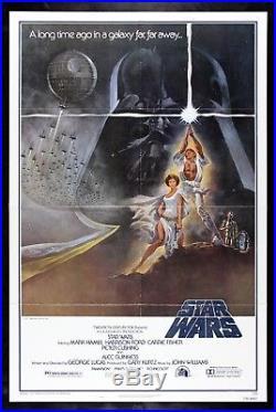 STAR WARS CineMasterpieces 1SH STYLE A ORIGINAL MOVIE POSTER 1977 UNUSED C8-C9