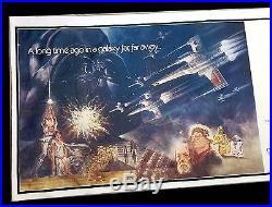 STAR WARS CineMasterpieces 24SH BILLBOARD HUGE MOVIE POSTER LINEN BACKED 1977