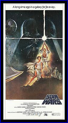 STAR WARS CineMasterpieces 3SH ORIGINAL MOVIE POSTER C9-C10 NM-MINT 1977