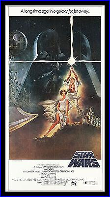 STAR WARS CineMasterpieces 3SH ORIGINAL MOVIE POSTER C9-C10 NM-MINT TRIFOLD 1977