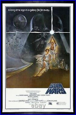 STAR WARS CineMasterpieces 77/21-0 1ST PRINTING ORIGINAL MOVIE POSTER 1977