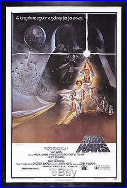 STAR WARS CineMasterpieces 77/21-0 HAIRY BELT ORIGINAL BOOTLEG MOVIE POSTER