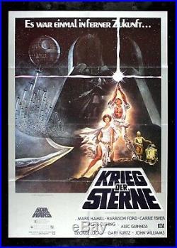 STAR WARS CineMasterpieces EARLY 1980'S ORIGINAL MOVIE POSTER GERMAN GERMANY