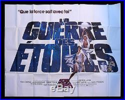 STAR WARS CineMasterpieces FRENCH 2P ORIGINAL MOVIE POSTER 1977