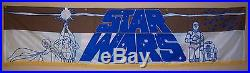STAR WARS CineMasterpieces ORIGINAL LOBBY BANNER MOVIE POSTER 1977 NM-M