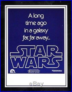 STAR WARS CineMasterpieces ORIGINAL MOVIE POSTER ADVANCE HERALD FLYER 1977