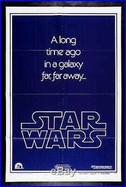 STAR WARS CineMasterpieces ORIGINAL TEASER STYLE B MOVIE POSTER 1977 WITH GAU
