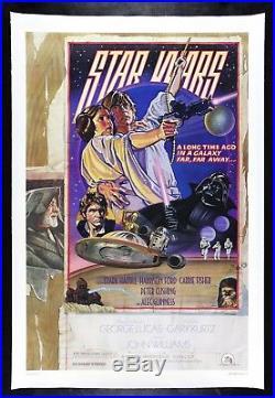 STAR WARS CineMasterpieces RARE ROLLED STYLE D LINEN ORIGINAL MOVIE POSTER