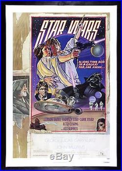 STAR WARS CineMasterpieces RARE STYLE D ORIGINAL VINTAGE MOVIE POSTER 1977