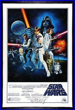 STAR WARS CineMasterpieces RARE VINTAGE ORIGINAL STYLE C MOVIE POSTER 1977
