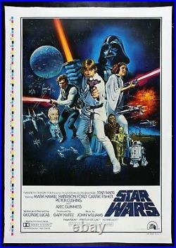 STAR WARS CineMasterpieces STYLE C ORIGINAL 1977 MOVIE POSTER PRINTER'S PROOF